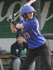 Ontario's Lauren Musille readies herself while at bat