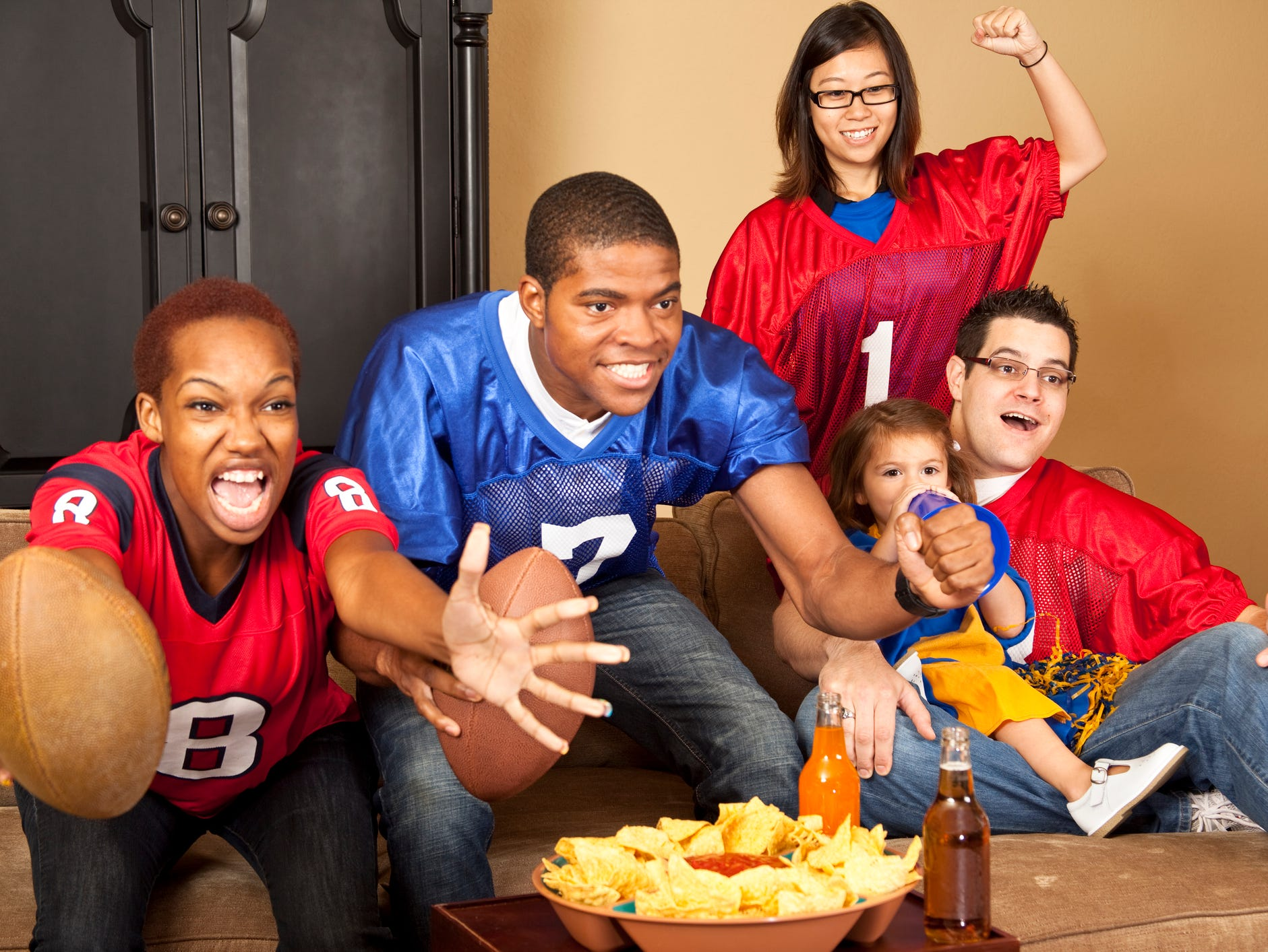 """Impress your friends on Feb. 5 with your brand new 55"""" Big Screen HDTV. Enter 1/12-1/29"""