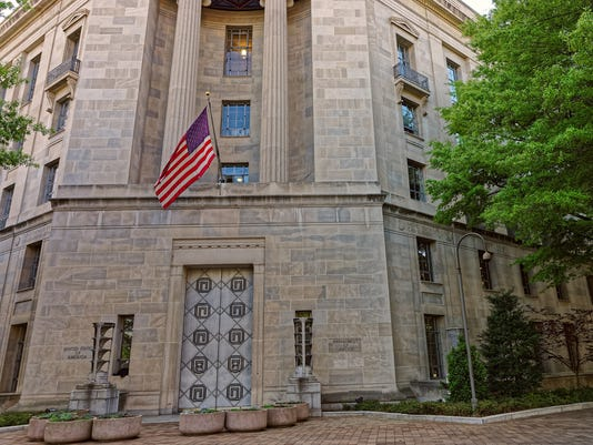 Department of Justice entrance in Washington DC