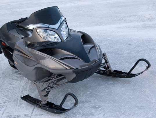Snowmobile on Lake