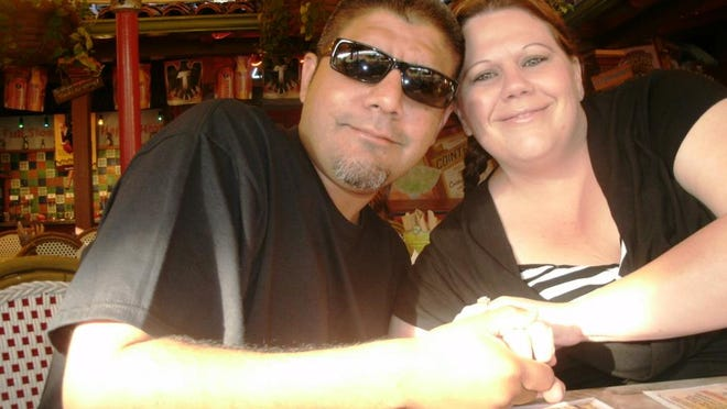 Richard Leija and his wife, Jamie, during a vacation to Old Town San Diego.