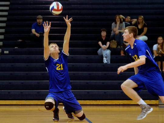 KYLE WOOLDRIDGE, Kennard-Dale, sr. | Also a star football and basketball player, Wooldridge (right) will be a key cog for a Kennard-Dale team that finished 8-6 last season. The 6-foot-5 outside hitter averaged 4.10 kills, 0.95 blocks and 0.30 aces per set last season and is one of five returning starters for the Rams.