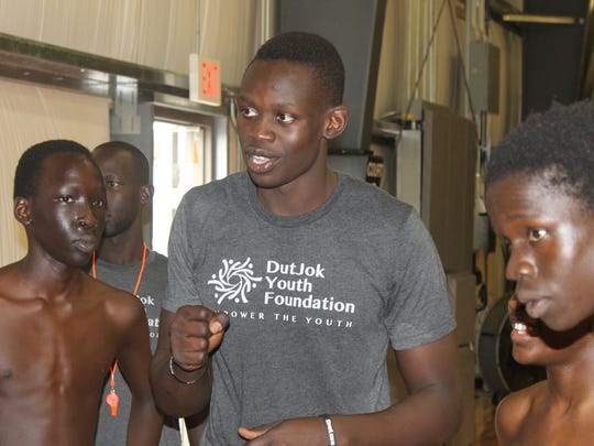 Peter Jok is shown during a 2014 Youth Summit basketball camp for the Dut Jok Youth Foundation, which bears his father's name, at the Kingdom Hoops facility.