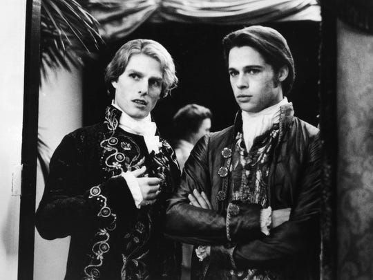 "Tom Cruise (left) and Brad Pitt star in 1994's ""Interview with the Vampire."""