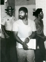 Serial killer Nathaniel Code Jr. is shown in this July 1989 photo. Code was convicted and sentenced to death in October 1990 for the first-degree murders of four Shreveport residents.