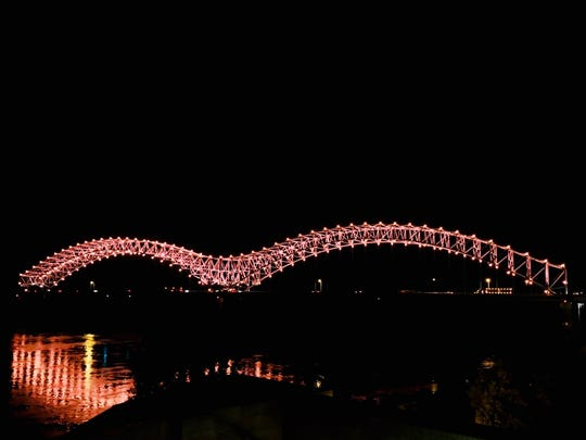 "The new ""Mighty Lights"" on the Interstate 40 Hernando"