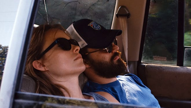 "Olivia Wilde and Jake Johnson totally hammered in a scene from ""Drinking Buddies."""