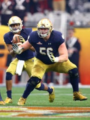 Notre Dame guard and New Jersey native Quenton Nelson could emerge as a sleeper pick for the New York Giants, especially if they wind up trading back a few spots from No. 2 on draft night.