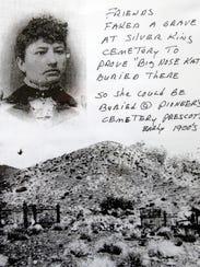 Big Nose Kate is buried in the Arizona Pioneers' Home Cemetery in Prescott.