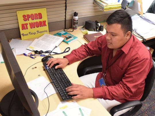 Christian Chargualaf, an intern in the Guam Power Authority's