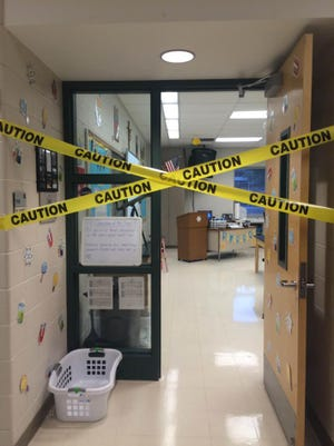 Students at St. Fabian arrived to school recently to find their science classroom transformed into a crime scene.