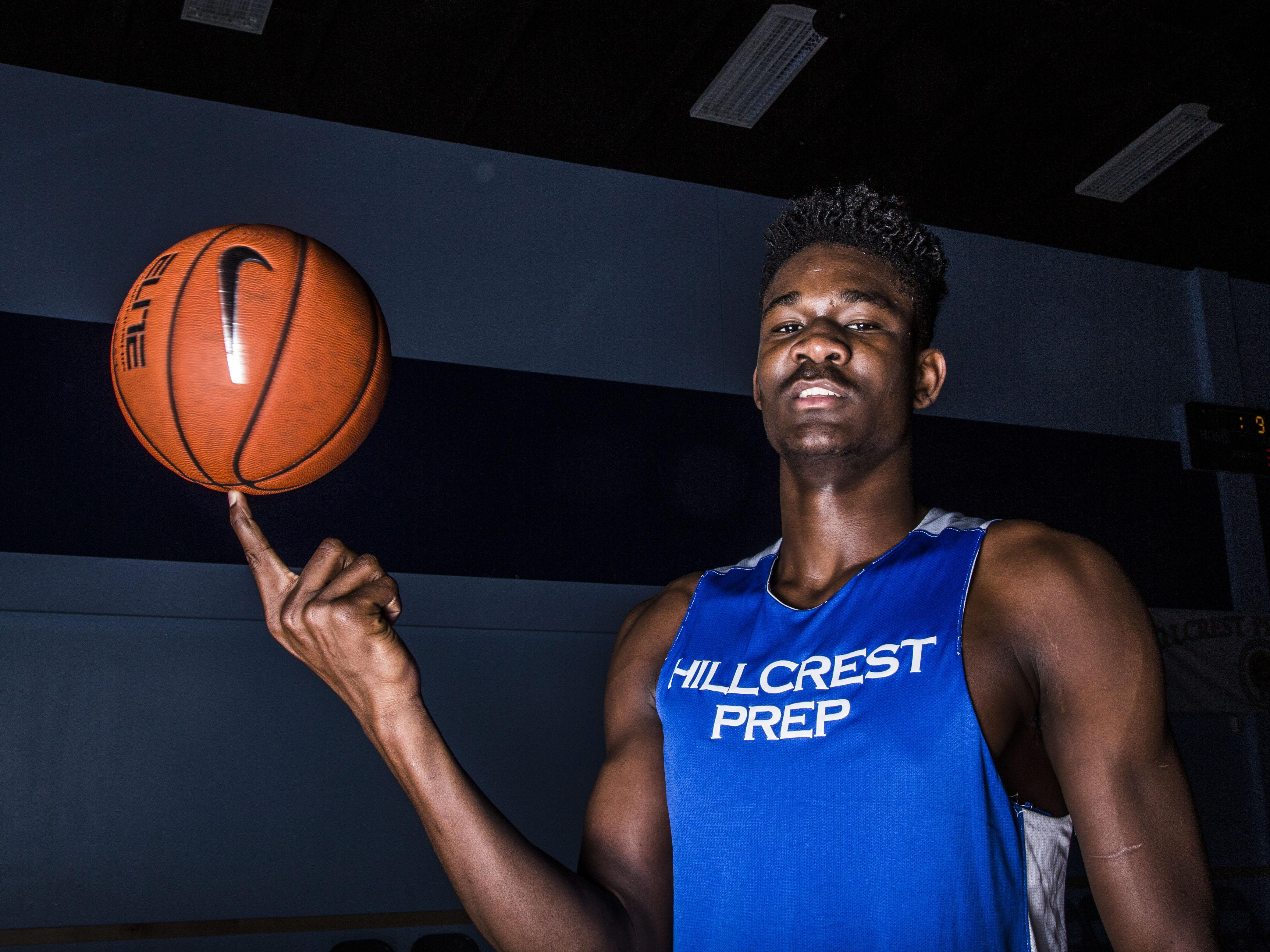 Hillcrest Prep junior DeAndre Ayton, a 7-foot-1 basketball player, is rated the No.1 player in the country.