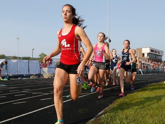 Maggie Gutwein of Twin Lakes leads from start to finish