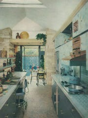 The kitchen in the Corbett home as it appeared in the February 1960 edition of House Beautiful.