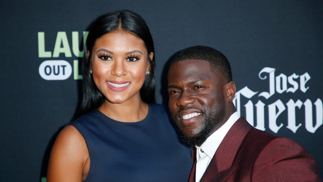 Kevin Hart with his wife, Eniko Hart, earlier this month in Beverly Hills, has taken to Instagram to address cheating allegations.