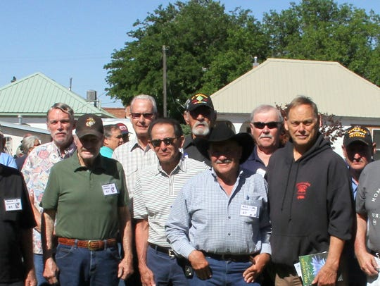 Luna County Viertnam veterans attended the unveiling