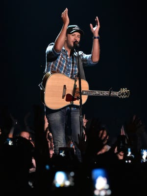Luke Bryan performs at the CMT Music Awards on June 8, 2016, in Nashville.