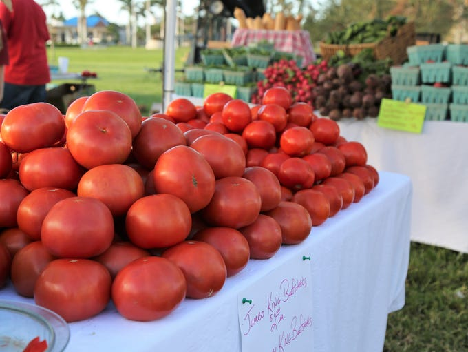 Tomatoes from the Tomato Lady. The Marco Island Farmers
