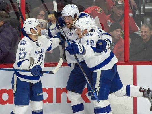 USP NHL: TAMPA BAY LIGHTNING AT OTTAWA SENATORS S HKN CAN ON