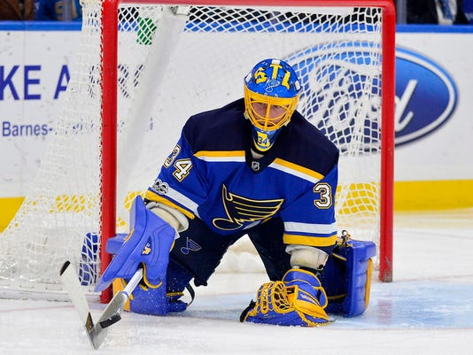 USP NHL: DALLAS STARS AT ST. LOUIS BLUES S HKN STL DAL USA MO