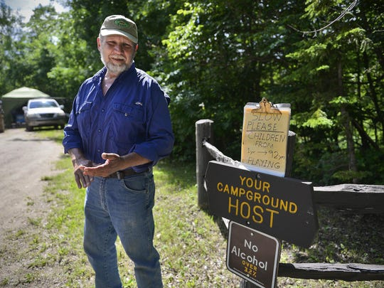 Jim Kubow is willing to suggest how campers might start a fire. He'll even offer a tent pole if he has one on hand. Just don't ask to tap into the electricity.