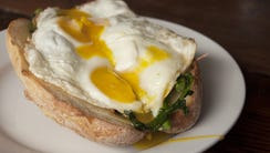 The Braised Pork Eggs are popular during brunch at