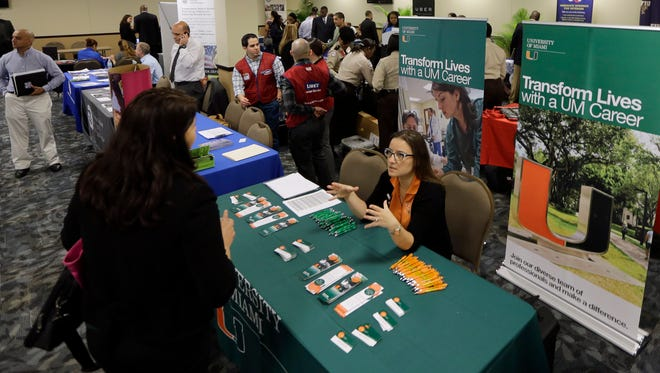 A Veterans Career and Resource Fair in Miami.