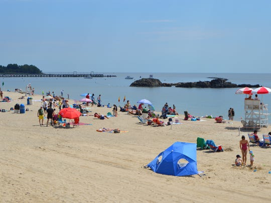 Local residents ventured to area beaches and pools