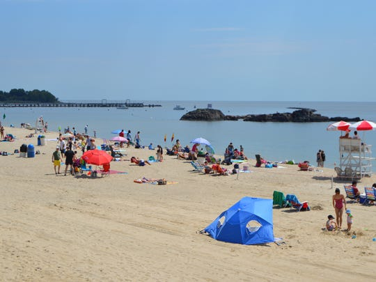 Local residents ventured to area beaches and pools to soak in the sun for the unofficial kick-off of summer.