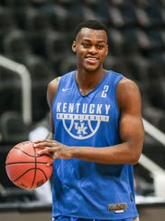 Kentucky's Jarred Vanderbilt was dressed Wednesday
