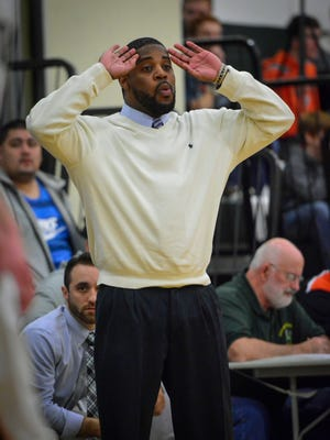 York Catholic head coach Blaine Claiborne was part of the 199x Fighting Irish state championship team and is now trying to help the program get back to that level. (John A. Pavoncello - The York Dispatch)