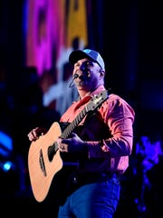 Garth Brooks performs during the CMA Music Festival on June 8, 2017, at Nissan Stadium in Nashville.
