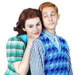 """Ruby Rakos plays Judy Garland and Michael Wartella is Mickey Rooney in """"Chasing Rainbows: The Road to Oz,"""" a new musical opening Nov. 27 at Flat Rock Playhouse."""