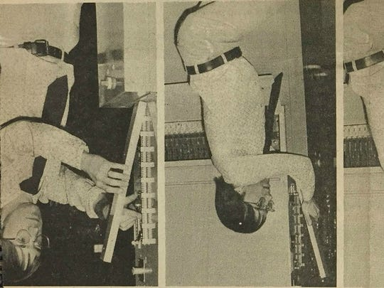 Jack McElroy, then a reporter at The Albuquerque Tribune, breaks into a voting machine.