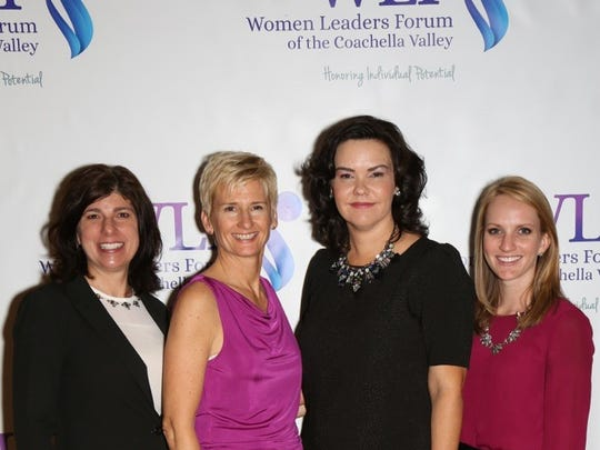 Deborah Tryon, Women Leaders Forum president; Lauren Del Sarto, Women Who Rule co-chair; Amy Blaisdell, past president co-chair; and Erin Scott, co-chair.