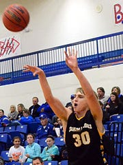 Hendersonville High junior Ryne Loper releases a 3-pointer