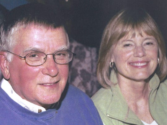 Author Jim Anderson and his wife, Debbie