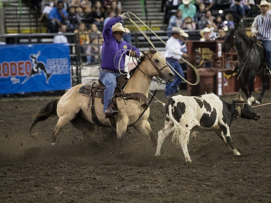 Buc Days Rodeo at the American Bank Center on Thursday, April 26, 2018.