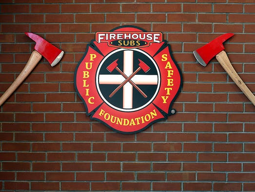 Firehouse memorabilia adorn the walls of the newly