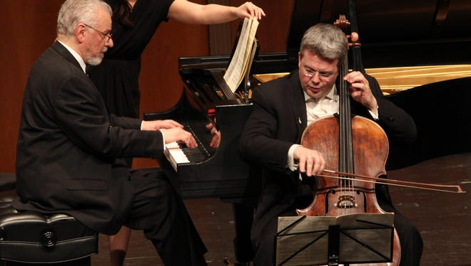 Cellist Paul Watkins became artistic director of the Great Lakes Chamber Music Festival in 2015, stepping into the position formerly held by the festival's founder James Tocco (at the piano). The two will perform on several of the same concerts during the 2017 Great Lakes Chamber Music Festival.