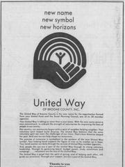 An advertisement for the United Way of Broome County
