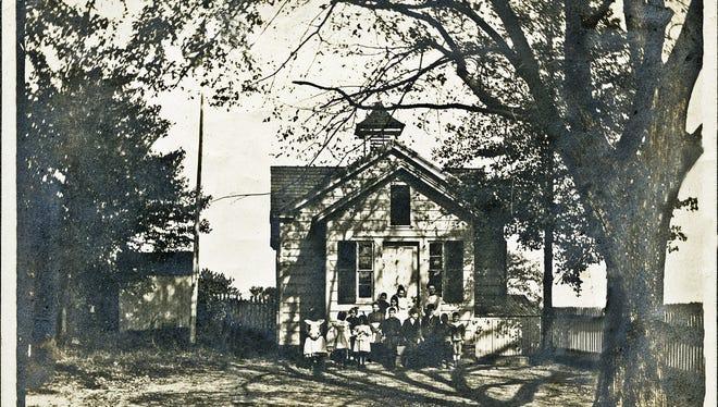 Jefferson School, a one-room schoolhouse, one of the earliest in Millburn Township.