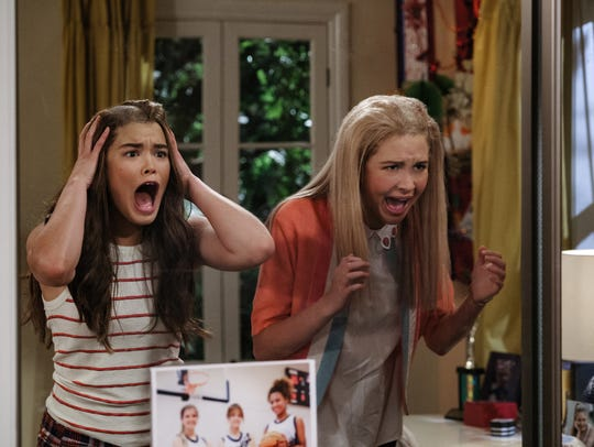 "Paris Berelc and Isabel May on ""Alexa & Katie."""