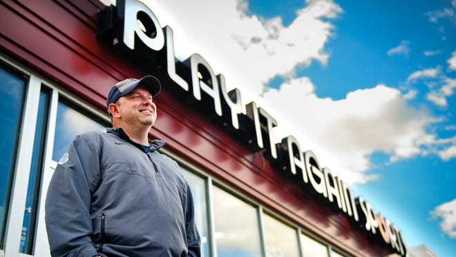 Bob Moran, the new owner and general manager of Play It Again Sports, talks Wednesday, Sept. 27, about plans to reopen sometime in November at the same location, 28 2nd Ave. Sin Waite Park.