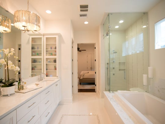 The master bath is a soothing retreat in the home.