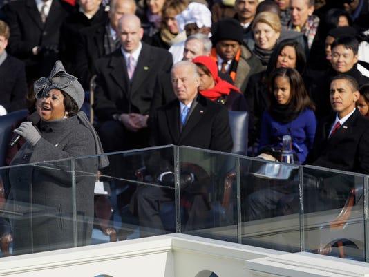 Aretha Franklin, Joe Biden, Barack Obama