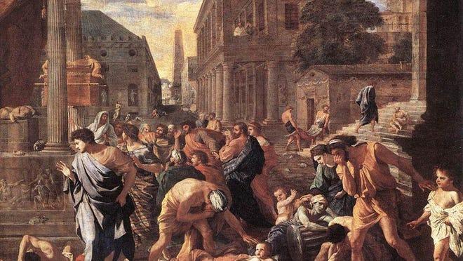 Nicolas Poussin, Plague at Ashdod, 1630, oil on canvas, 148 cm x 198 cm, , Louvre Museum, Paris