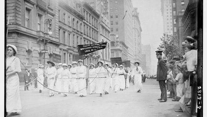 Women marched 100 years ago to raise awareness and earn the right to be considered equal to men and vote in elections. Contrbuted photo