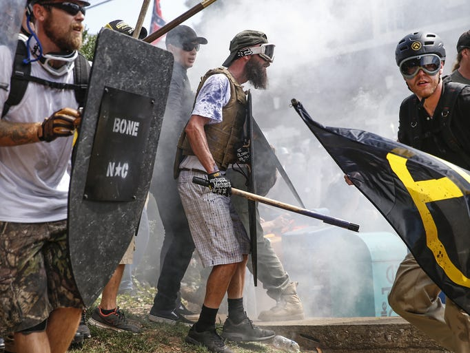 Multiple white nationalist groups hold their ground