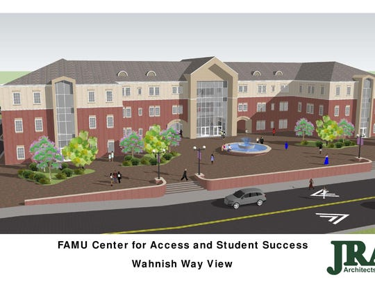 Rendering of new student center.